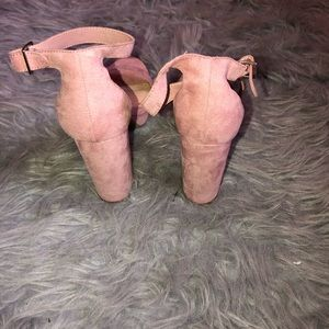 Forever 21 Shoes - Pink suede block heels